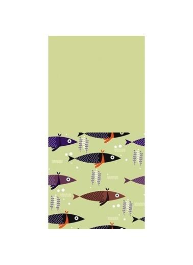 Artikel Renkli Balıklar Dekoratif Çift Taraflı Yastık Kırlent Kılıfı 45x45 cm Renkli